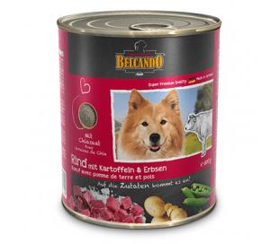בלקנדו שימורים לכלב בטעם בקר ותפוח אדמה  800 גרם