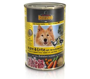 בלקנדו שימורים לכלב נתחי עוף וברווז  800 גרם