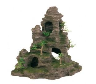 """סלע עם מערה וצמחים 31 ס""""מ TRIXIE"""