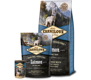 """CARNILOVE קרנילאב כלב בוגר סלמון 1.5ק""""ג"""