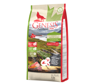 """ג'נסיס גורים 2.27 ק""""ג ללא דגנים - Genesis GREEN HIGHLAND"""