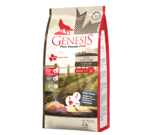 """ג'נסיס כלב מבוגר 2.27 ק""""ג ללא דגנים - Genesis WIDE COUNTRY Senior מזון יבש לכלב מבוגר"""