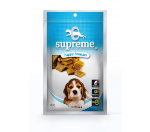 supreme חטיף בשר בטעם חלב לגורים 80 גרם