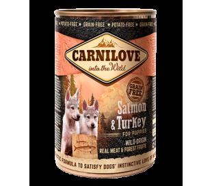 קרנילב שימורים לכלבים סלמון  Carnilove Cans