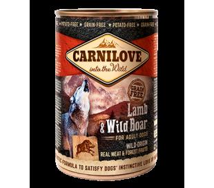קרנילב שימורים לכלבים כבש וחזיר בר Carnilove Cans