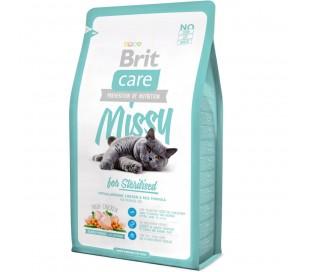 """בריט קר - מזון לחתולים מסורסים / מעוקרים2 ק""""ג BRIT Missy"""