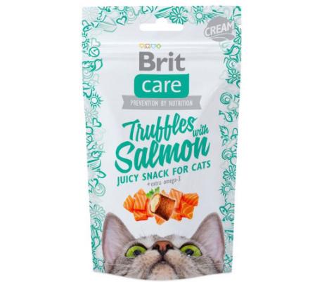 חטיף לחתול BRIT Care  טראפלס סלמון