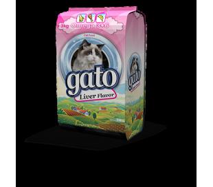 "GATO מזון לחתולים 3 ק""ג - כבד"