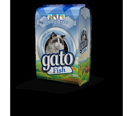 """GATO מזון לחתולים 3 ק""""ג - דגים"""