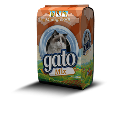 "GATO מזון לחתולים 3 ק""ג - מיקס"